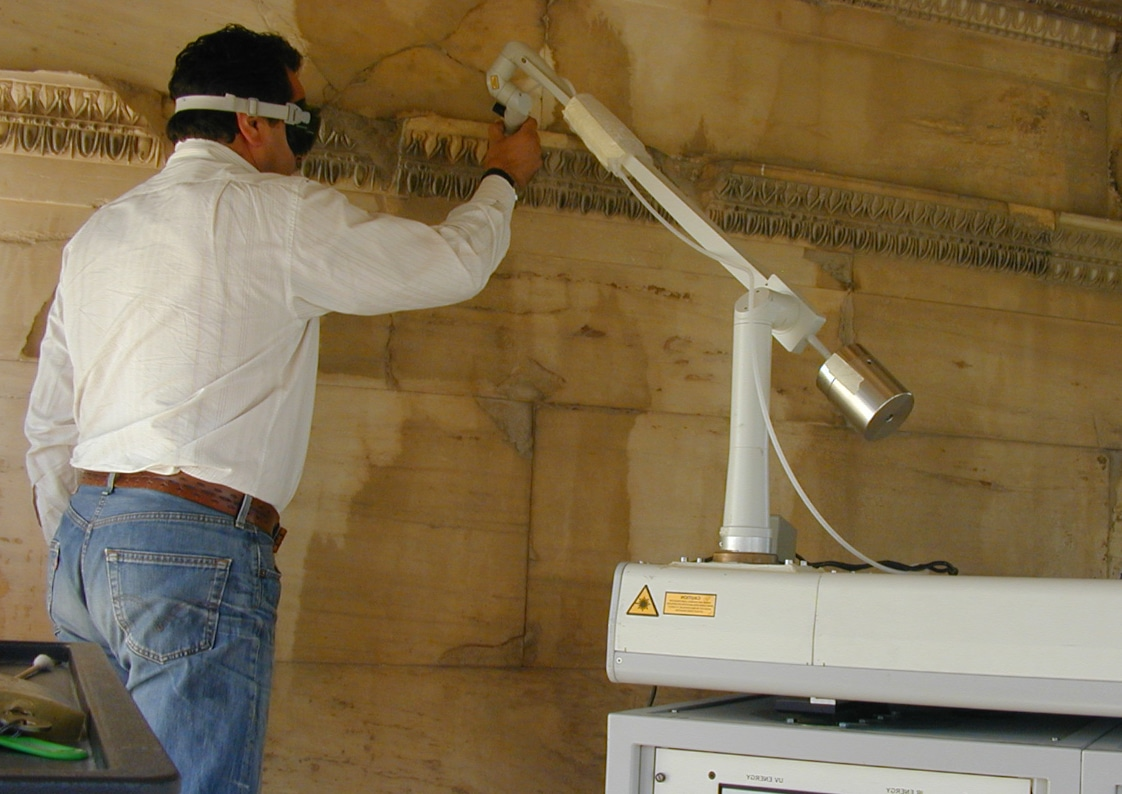 laserreining van historisch monument