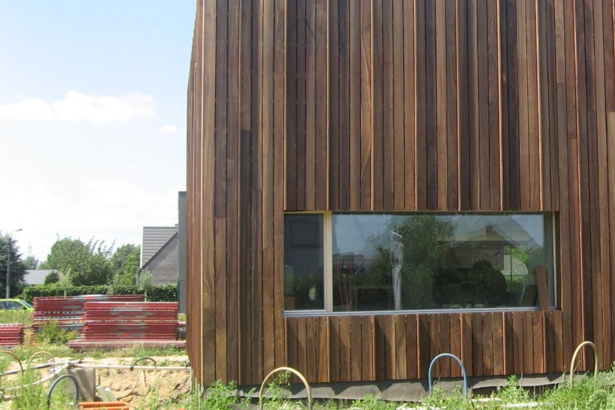 padoek gevel moderne woning